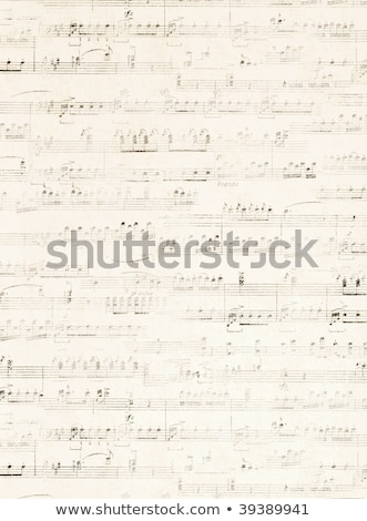 old music on parchment Stock photo © clearviewstock