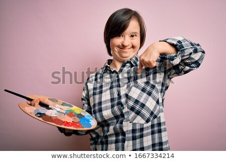 painter pointing down stock photo © photography33
