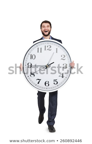 man with a big clock stock photo © photography33