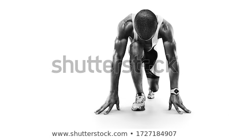 Profi atléta futó vektor boldog sport Stock fotó © yura_fx