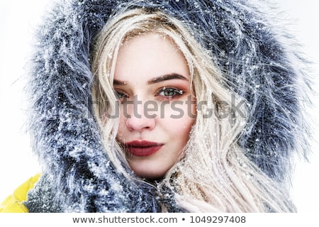 close up portrait of woman with fur hood stock photo © photography33