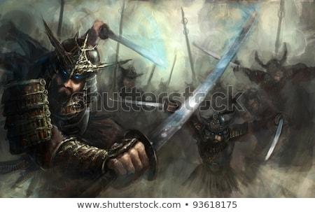 武士 · 戦士 · 剣 · スタンス · 実例 - ストックフォト © patrimonio