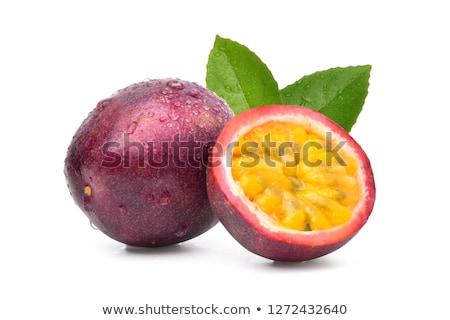 yarım · tohumları · düşen · dışarı · meyve · kırmızı - stok fotoğraf © m-studio