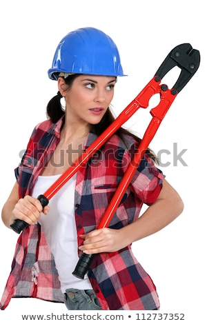 Sultry brunette holding bolt cutter Stock photo © photography33