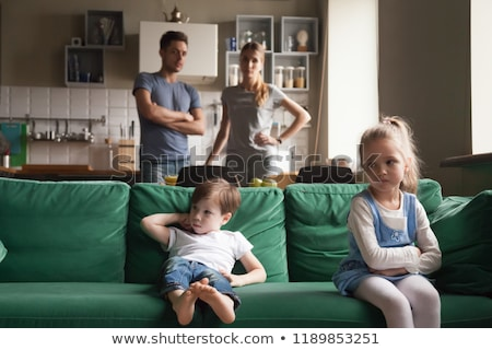 Little girl upset by parents arguing Stock photo © photography33