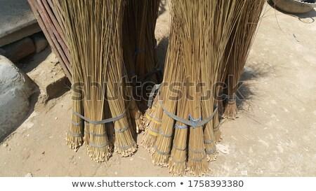Stro bezem smerig vloer stoffig verlaten Stockfoto © sirylok