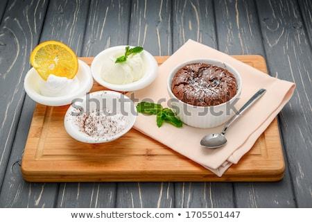 Stock fotó: Friss · krém · torta · közelkép · csokoládé · mártás
