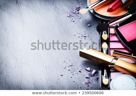 make-up · lijnen · vrouw · witte · Maakt · een · reservekopie - stockfoto © jayfish