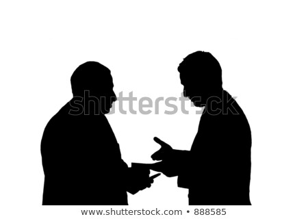anziani · parlare · anziani · comunicazione · vista · laterale - foto d'archivio © photography33