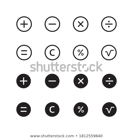 Hesap makinesi düğmeler atış bilgisayar okul Stok fotoğraf © samsem
