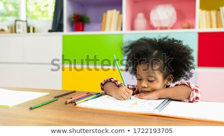 little girls drawing in class stock photo © photography33