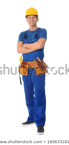 Carpenter on white background Stock photo © photography33