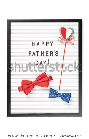 big sale red white banner - letters and block Stock photo © marinini