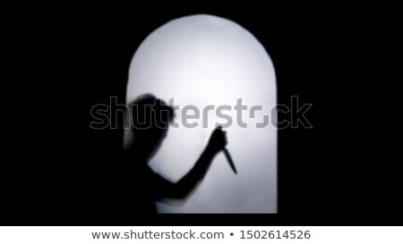 Holding a Big Knife Stock photo © winterling