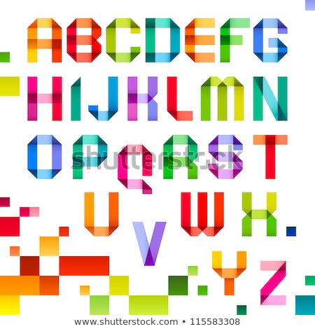 Stock photo: Spectral letters folded of paper ribbon-orange