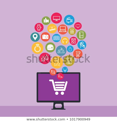 Shopping concept on a new tablet Stock photo © maxmitzu