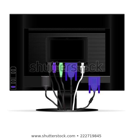 Lcd monitor achteraanzicht licht business kantoor Stockfoto © RuslanOmega