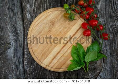 Pomodorini confine design succosa naturale Foto d'archivio © Lightsource