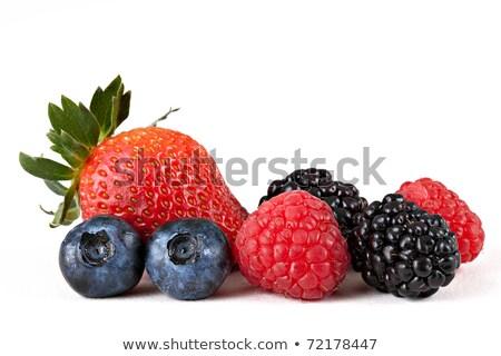 Framboesa branco fruto beber saudável naturalismo Foto stock © wavebreak_media