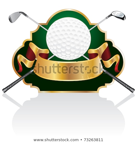 Golf Award with blank gold label Stock photo © Lightsource