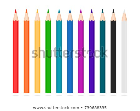 Blue and red pencil symbol Stock photo © Lightsource