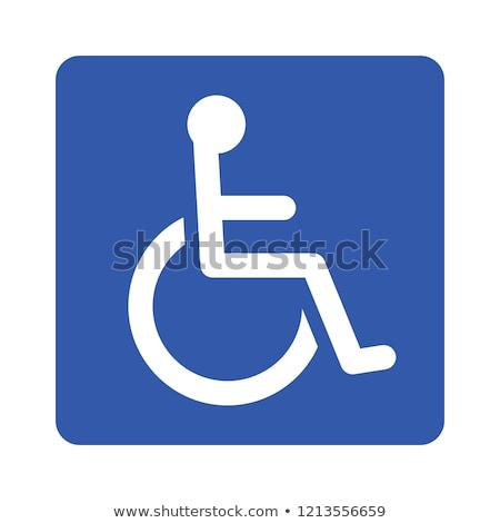 inválido · cadeira · de · rodas · assinar · universal · símbolo · deficientes - foto stock © cteconsulting