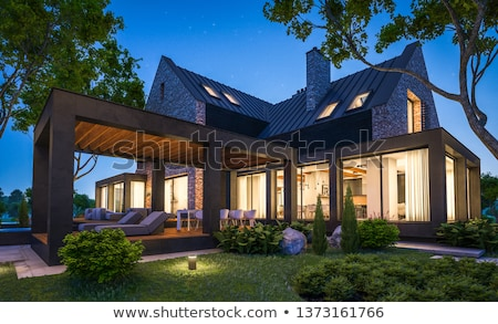 Luxury country house Stock photo © Anna_Om