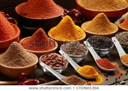 Przyprawy szufelka kminek żywności kuchnia tabeli Zdjęcia stock © Zerbor