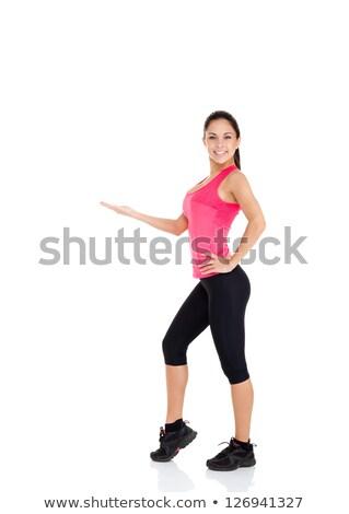 Kobieta odzież sportowa pusty strony piękna Zdjęcia stock © dolgachov