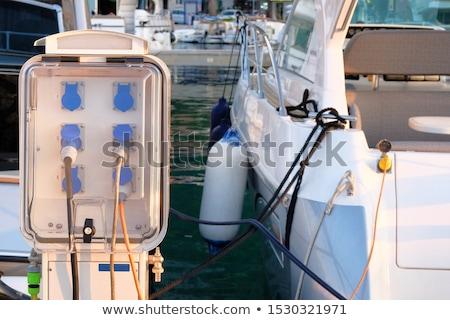 Stock photo: Boat bollard in mediterranean harbor