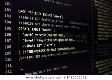 code · taal · lcd · scherm · abstract · zwarte - stockfoto © raywoo