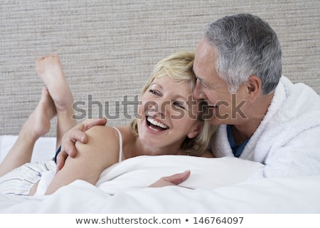 Middle-aged couple in bathrobe Stock photo © photography33