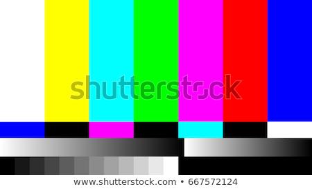 Nie sygnał telewizja vintage urządzenie ciemne Zdjęcia stock © stevanovicigor