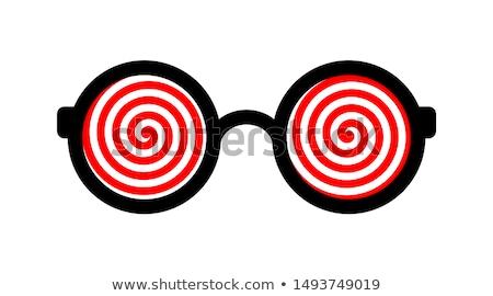 Hipnótico olhos belo senhora artificial longo Foto stock © blanaru