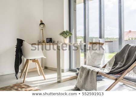 Detail of Wooden deckchair Stock photo © hanusst