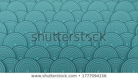 3D concentrique cercle modèle fond bleu Photo stock © Melvin07