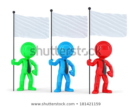 Group of coloured businesspeople with flags. Isolated. Contains clipping path Stock photo © Kirill_M