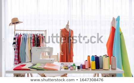 Couture matériaux ensemble outils bois Photo stock © Tagore75