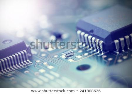 eletrônico · componentes · elétrico · elementos - foto stock © vavlt