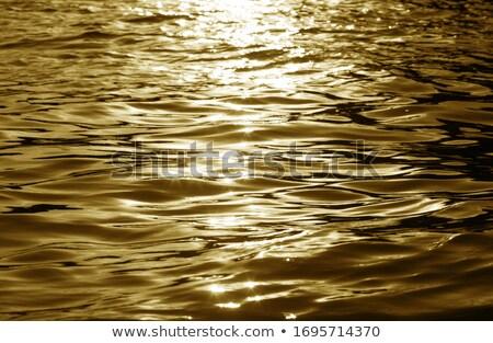 黒 金 日没 反射 川 水 ストックフォト © shihina