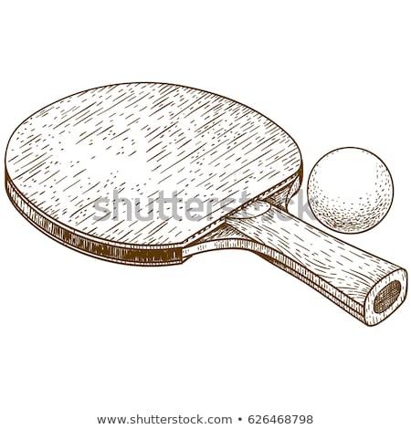 grunge · tenisz · teniszlabda · hely · fitnessz · egészség - stock fotó © loopall
