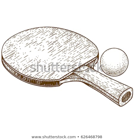 Masa tenisi top grunge eps10 yalıtılmış Stok fotoğraf © LoopAll