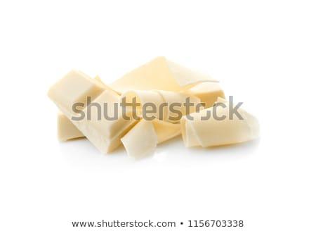 Csokoládé izolált fehér gyógyszer bár sötét Stock fotó © natika