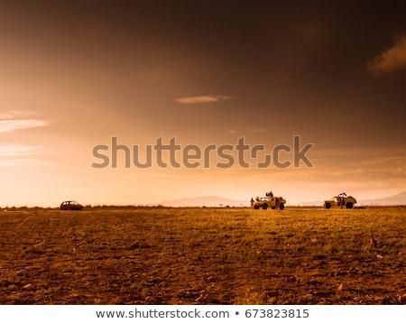 兵士 兵士 フル ギア 砂漠 軍事 ストックフォト © shivanetua
