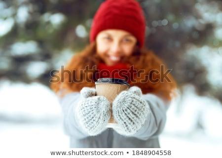 улыбаясь · Кубок · зима · лес · сезон - Сток-фото © nobilior