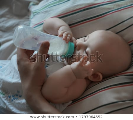 Vader baby fles zoon Stockfoto © d13