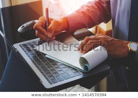 Książeczkę czekową mysz komputerowa recesja bezpieczeństwa Zdjęcia stock © devon