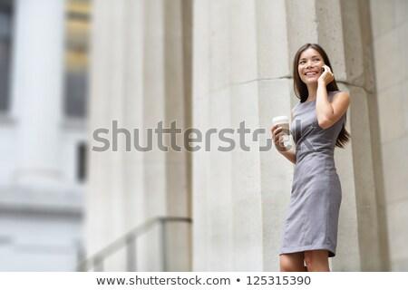 advogado · jovem · asiático · mulher · advogado · olhando - foto stock © maridav