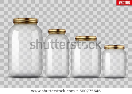 empty glass jar stock photo © dezign56