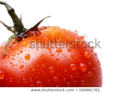 新鮮な · トマト · 水滴 · 孤立した · 白 · 食品 - ストックフォト © karandaev